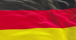 Germany flag as background. Deutschland flag in slow motion animation waving in the wind realistic 4k video. The Federal Republic of Germany.