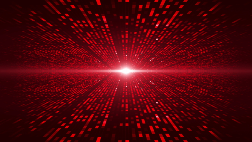 Digital server data. color red abstract background of virtual space with binary animation. Matrix style futuristic 3D render   Shutterstock HD Video #1053582554