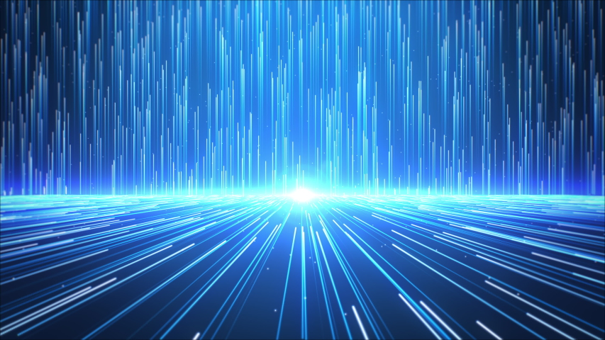 Blue light streak stage background, Futuristic and technology concepts, 4k Resolution. | Shutterstock HD Video #1053589925