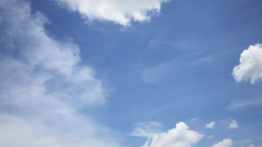 Time lapse motion the clouds are moving fast on the sky in the daytime bright. | Shutterstock HD Video #1053590063