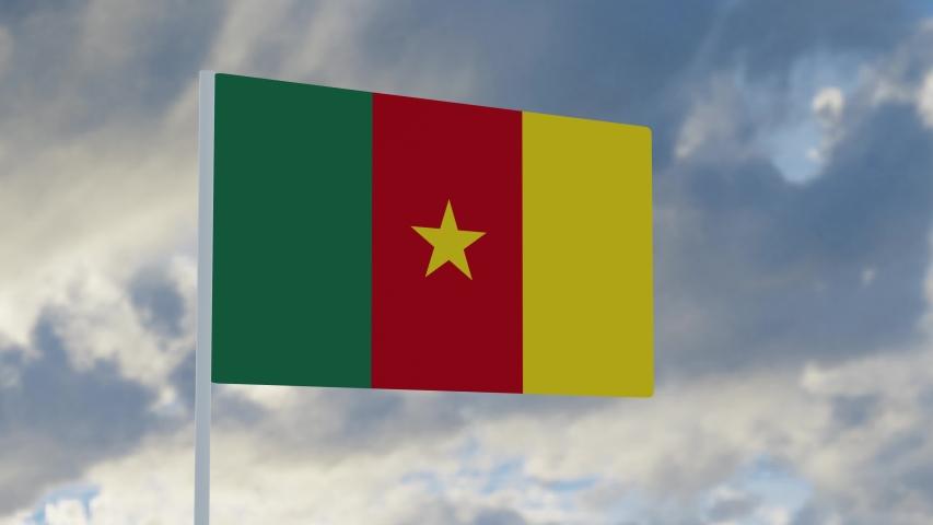 3d rendering realistic flag of Senegal waving in the wind against deep blue sky Royalty-Free Stock Footage #1053613082