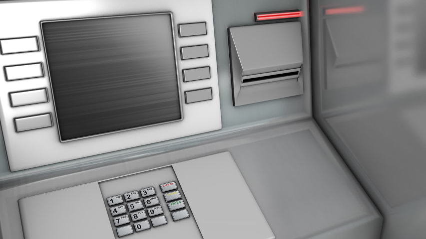 Out of sevice atm broken access card user bank money Royalty-Free Stock Footage #1053621383