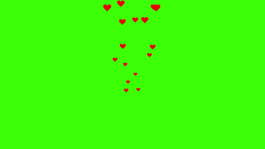 Social media Live style animated heart on green screen and alpha matte. 4K 2D animation.  | Shutterstock HD Video #1053628508