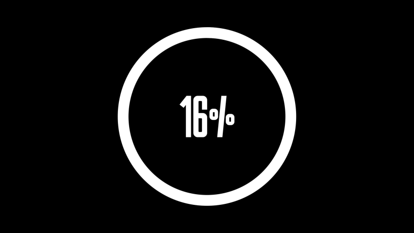 Circle percentage diagrams meter from 0 to 100 ready-to-use for web design, user interface UI or infographic - indicator with yellow | Shutterstock HD Video #1053633332