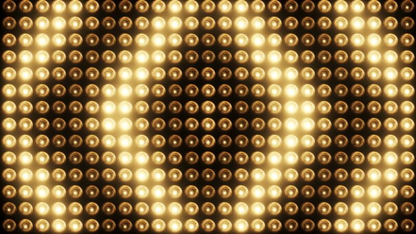 Flashing lights bulb spotlight flood lights arrow vj led wall stage led display blinking lights   Shutterstock HD Video #1053662246
