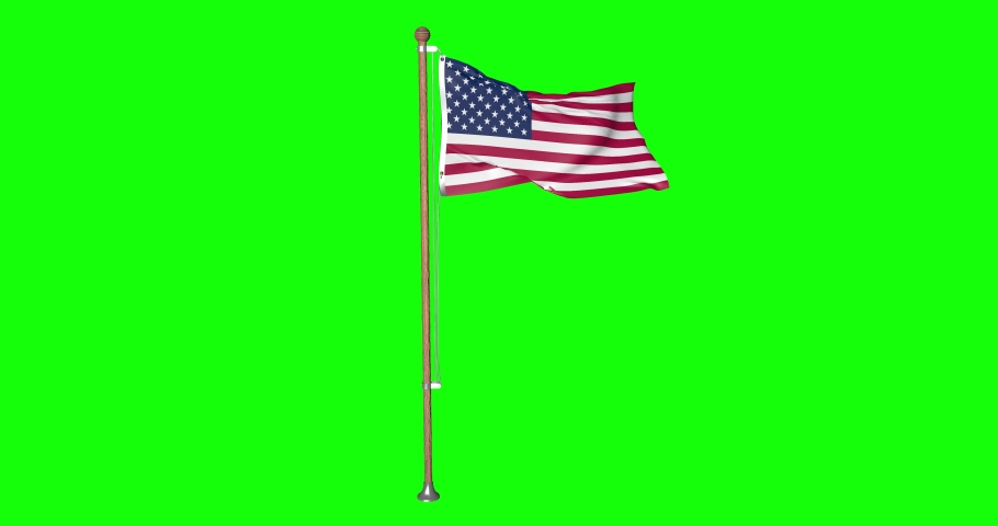 Flag United States pole United States usa United States US flag waving pole waving usa waving flag green screen pole green screen usa green screen flag american pole usa american 3d North American US | Shutterstock HD Video #1053662804