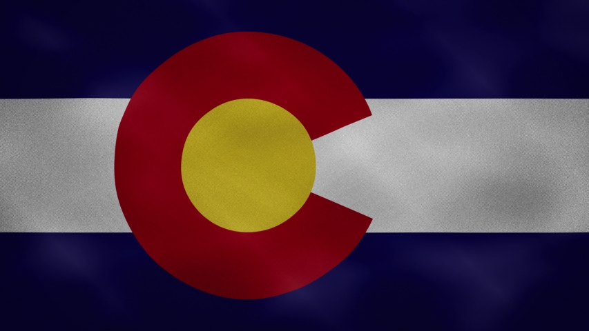 Colorado US dense flag fabric wavers, perfect loop for background | Shutterstock HD Video #1053673742
