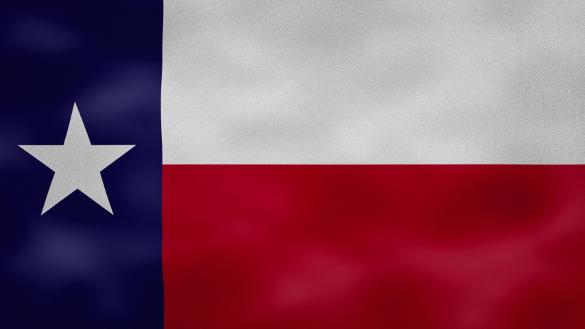 Texas US dense flag fabric wavers, perfect loop for background