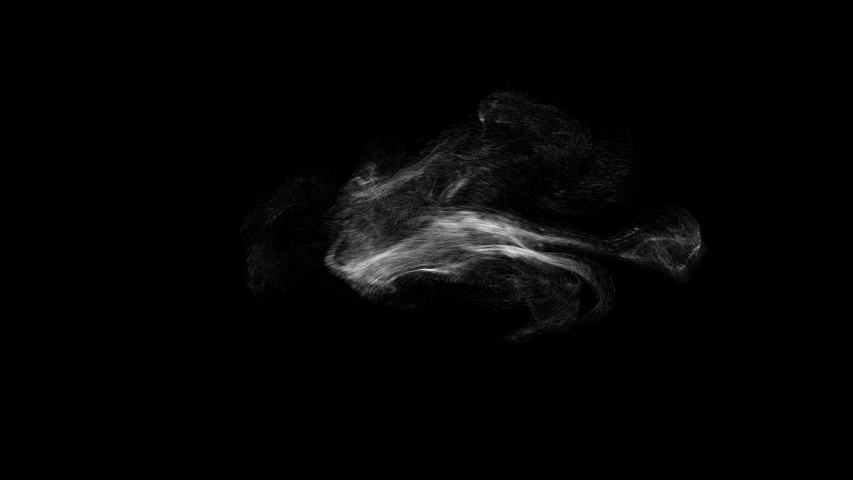 4k dust and smoke over black background, can be used as alpha, ready to use in your compositions | Shutterstock HD Video #1053687887