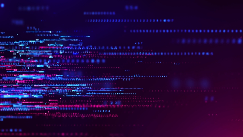 Abstract Technology Background. Binary data and streaming code. 3d rendering Royalty-Free Stock Footage #1053722534