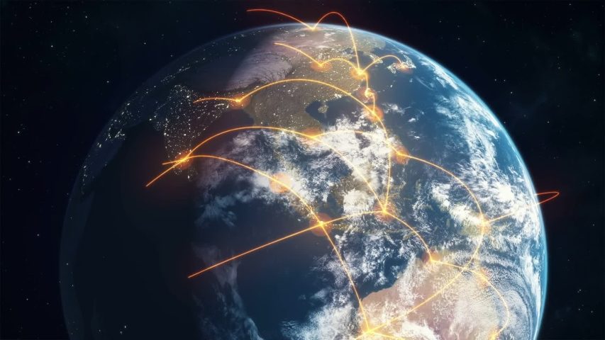 Global Network Digital Background video