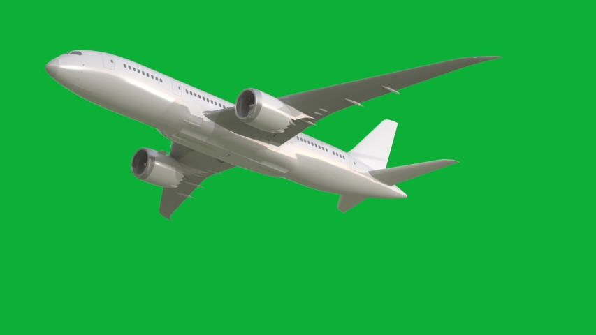 The Best Airplane pack 4K animation on Green screen - 14 Different scenes - Realistic Plane flying Package on Chroma key background  | Shutterstock HD Video #1053740960