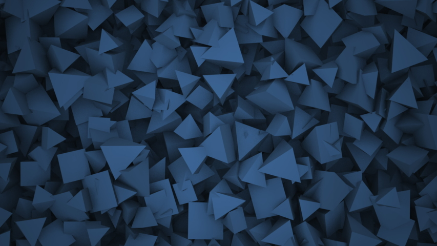 Motion blue geometric shapes, abstract background. Elegant and luxury dynamic style for business and corporate template   Shutterstock HD Video #1053764243