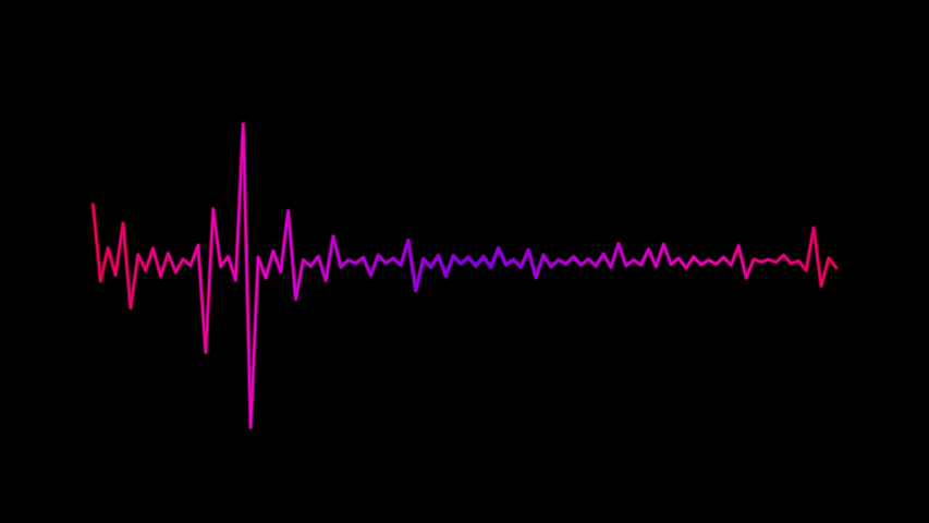 Looped animation audio frequency monitor sound wave Royalty-Free Stock Footage #1053772178