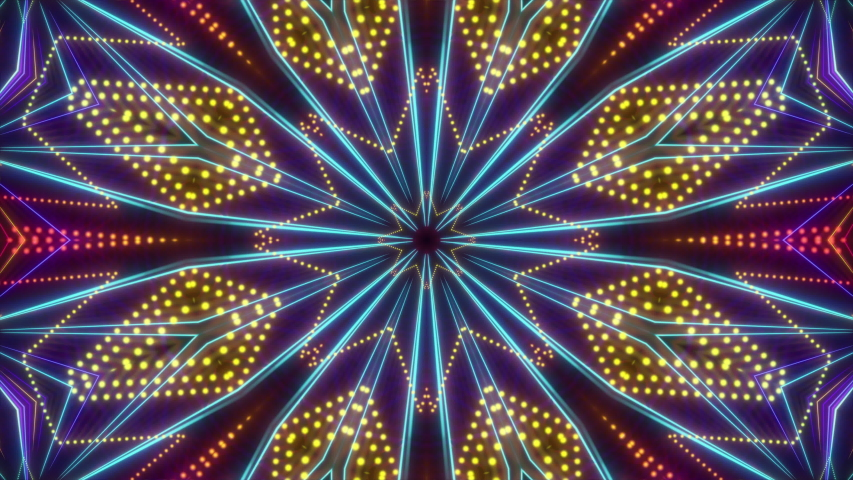 Kaleidoscope magical particles visual loop for concert, night club, music video, events, show, fashion, holiday, exhibition, LED screens and projection mapping.  Royalty-Free Stock Footage #1053774689