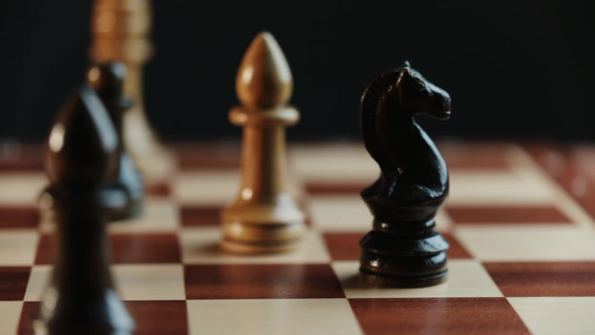 a pawn move in a chess game Royalty-Free Stock Footage #1053781865