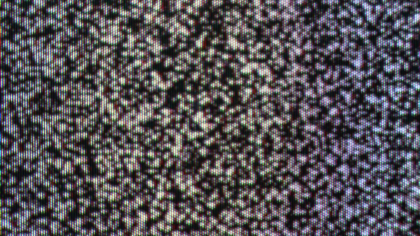 Bad TV signal, noise static screen and blinking horizontal stripes. Black and white grain background, glitch on old vintage television, broken cable TV. Screen overlays and static noise | Shutterstock HD Video #1053783860
