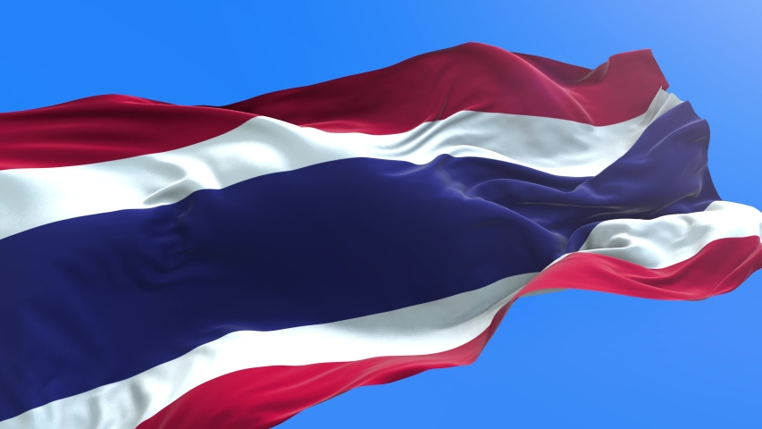 Thailand flag - 3D realistic waving flag background | Shutterstock HD Video #1053787274