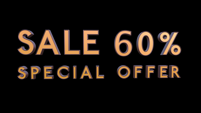 Special offer sale 60 percent off 4K 3d animation rendering with Alpha Channel Matte mask 60% off