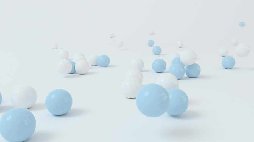 Bouncing soft balls with white background, 3d rendering.