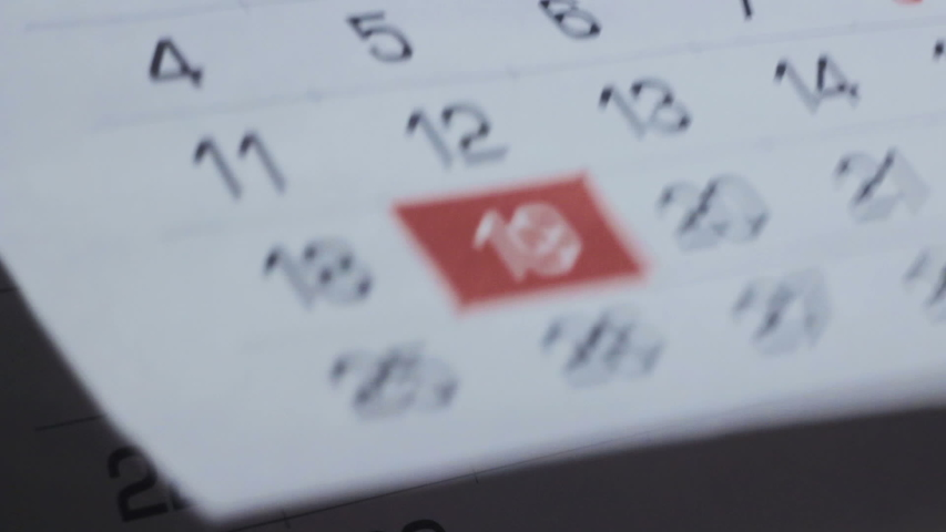 Turning Pages Of The Calendar Fast. Time Is Running Out | Shutterstock HD Video #1053891938