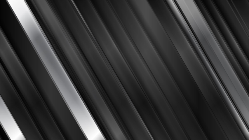 Black glossy and grey silver metallic stripes. Geometric tech abstract motion background. Seamless looping. Video animation Ultra HD 4K 3840x2160 Royalty-Free Stock Footage #1053897734