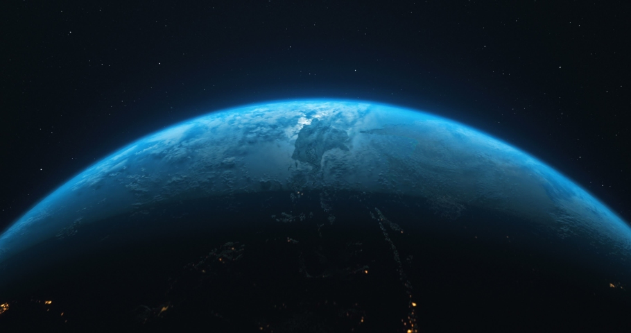 Earth Rotate. Rotating Earth In Deep Space. Earth Globe 4K. Round Planet In Deep Space.   Shutterstock HD Video #1053900344