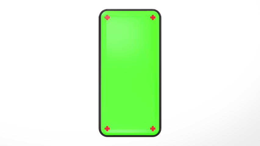 Phone green screen rotation slow motion loop Seamless center with a white background smartphone technology cell phone display with luma  key 3D rendering | Shutterstock HD Video #1053912593