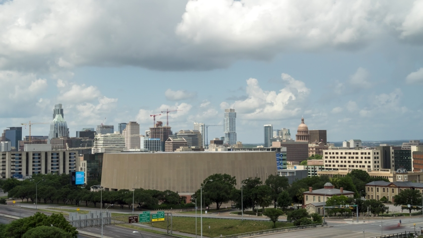 Time Lapse of Austin Downtown With Clouds Passing Through