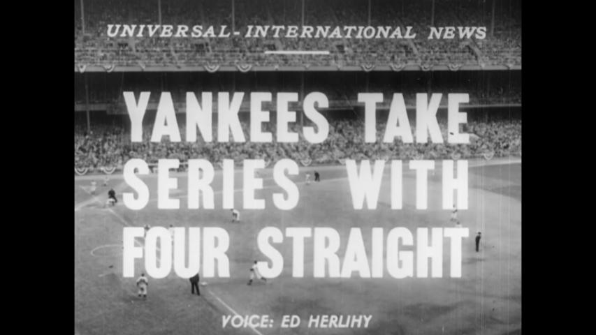 CIRCA 1950 - The New York Yankees play the Philadelphia Phillies at Yankee Stadium.