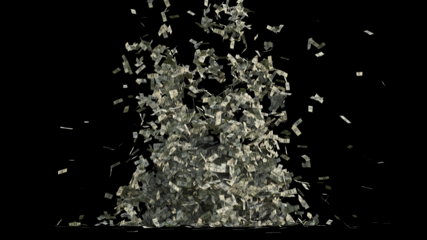 Money cash waterfall  3d rendering animation 4k | Shutterstock HD Video #1053970700