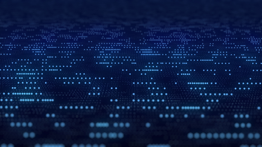 abstract dark blue digital grid data communication technology background  Royalty-Free Stock Footage #1053997079