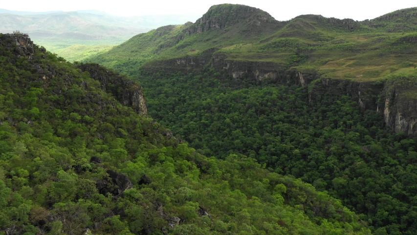 an aerial view of chapada dos veadeiros Royalty-Free Stock Footage #1054008188