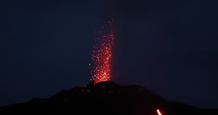 Explosion and Eruption of a Volcano, Guatemala Pacaya