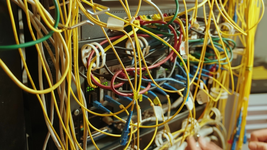 Networking service. network engineer administrator checking server hardware equipment of data center | Shutterstock HD Video #1054030436