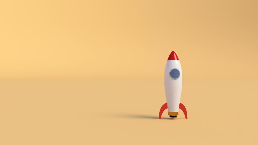 Ship rocket launch. Startup new business project. New business project concept. Vehicle concept. Space shuttle. Smoke cloud. 4k Royalty-Free Stock Footage #1054032560