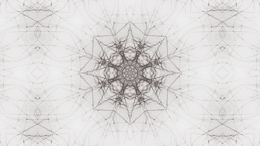 Ethnic patterns on a white background. Black and white looping animation of the mandala. shapes change endlessly