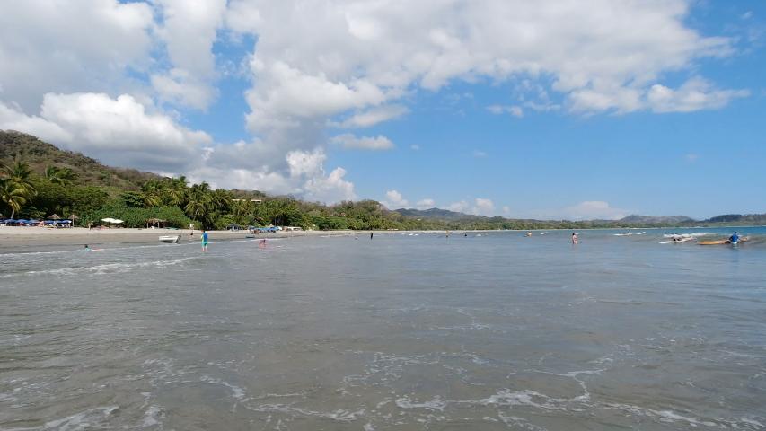 Wide angle view of an idyllic Caribbean beach | Shutterstock HD Video #1054078976