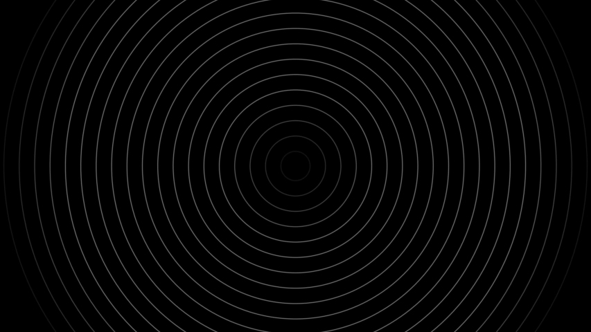 Radio Waves in Circle Form Royalty-Free Stock Footage #1054100180