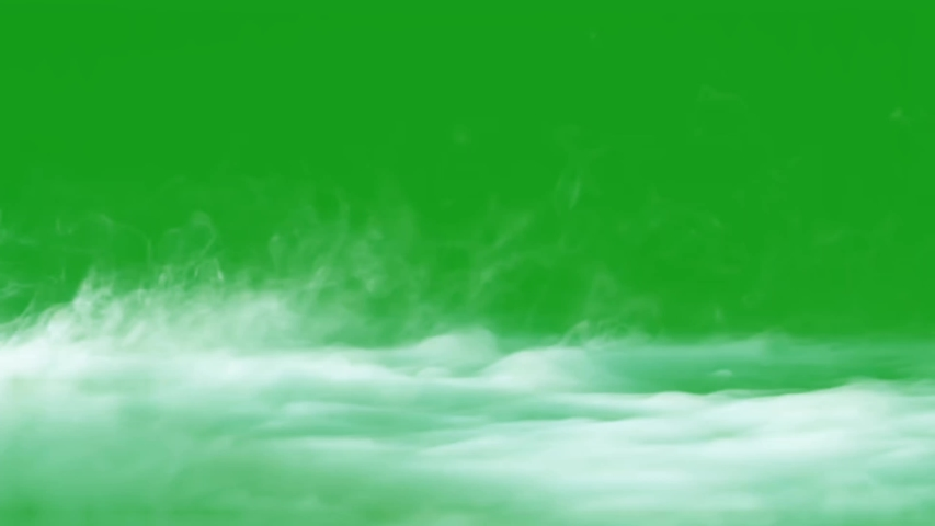 Smoke on ground green screen motion graphics
