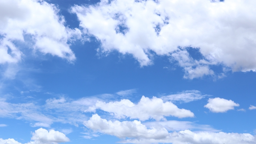 4k time lapse of beautiful blue sky with clouds background.Sky clouds.Sky with clouds weather nature cloud blue.Blue sky with clouds and sun. Royalty-Free Stock Footage #1054148006