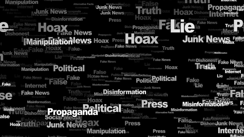 Fake News Keywords Animation, Background, Loop, 4k  | Shutterstock HD Video #1054161479