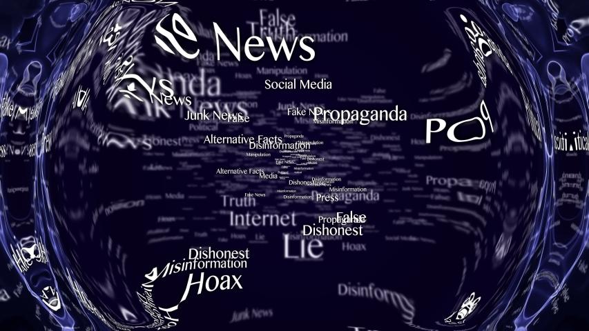 Fake News Keywords Animation, Background, Loop, 4k  | Shutterstock HD Video #1054161482