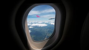 Airplane Window View Free Stock Video Footage Download Clips Sport