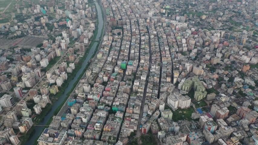 Drone videography of Banasree and Aftabnagar residential area of Dhaka cily, Bangladesh