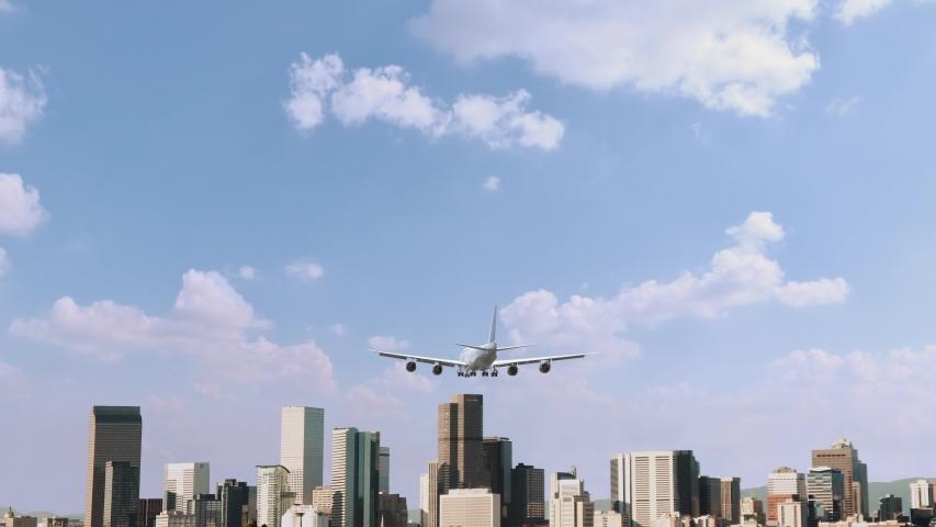 Airplane Landing in Denver USA | Shutterstock HD Video #1054281707