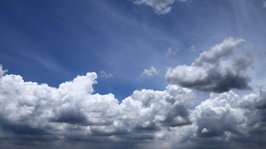 Blue sky clouds timelapse 4k time lapse big white clouds weather background