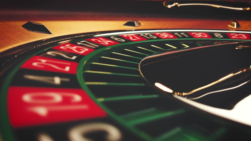 Roulette table Slow Motion close up at the Casino - Selective Focus | Shutterstock HD Video #1054291481