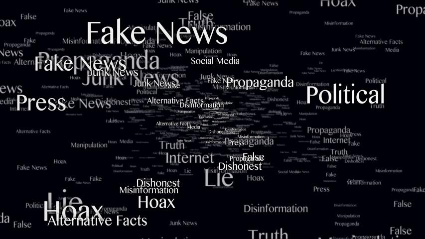 Fake News Keywords Animation, Background, Loop, 4k  | Shutterstock HD Video #1054292165