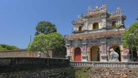 Exit Gate from Imperial City in Hue, Vietnam
